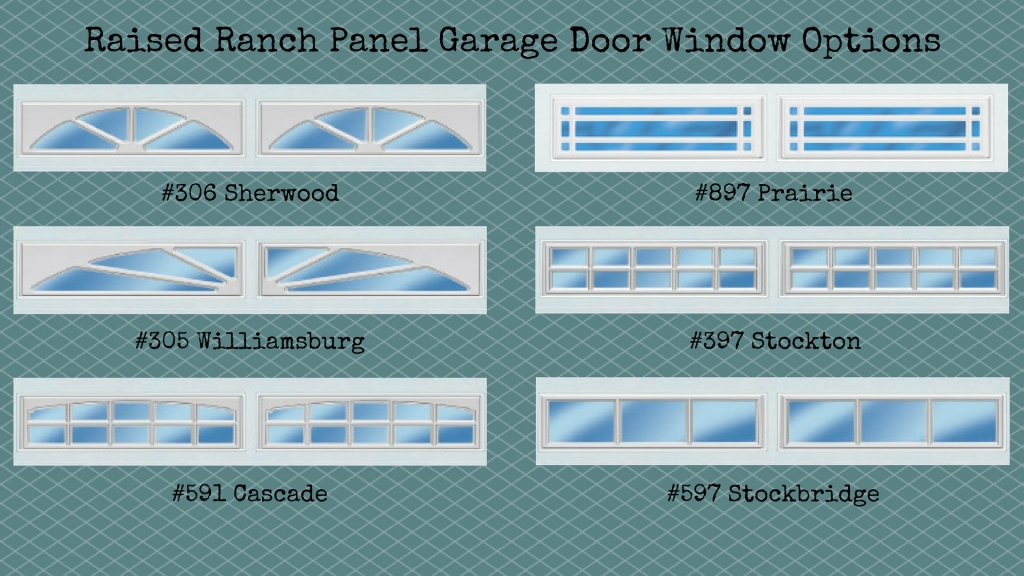 raised-ranch-panel-garage-door-window-options
