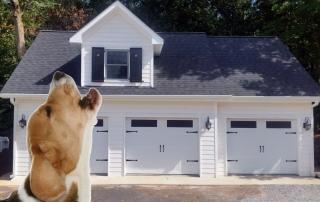 Dog Howling at Squeaky Garage Doors