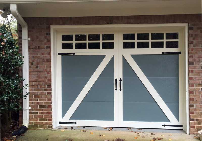 Stamped Carriage Garage Doors