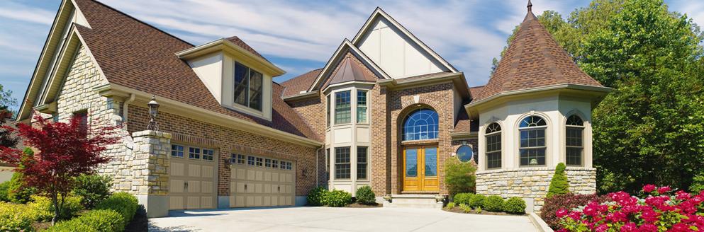 Home with Mult-car Garage Doors