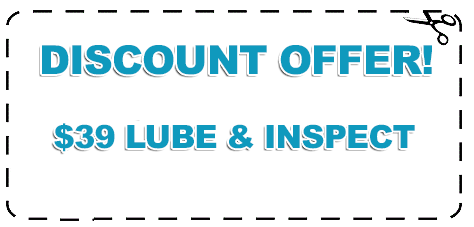 Garage Door Discount Offer for Lube and Inspect