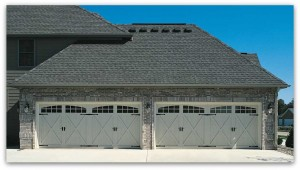 Brick garage with 4 carriage doors