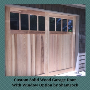 Custom Solid Wood Garage Door With Window Option