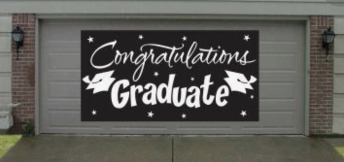Graduation Congrats Garage Door