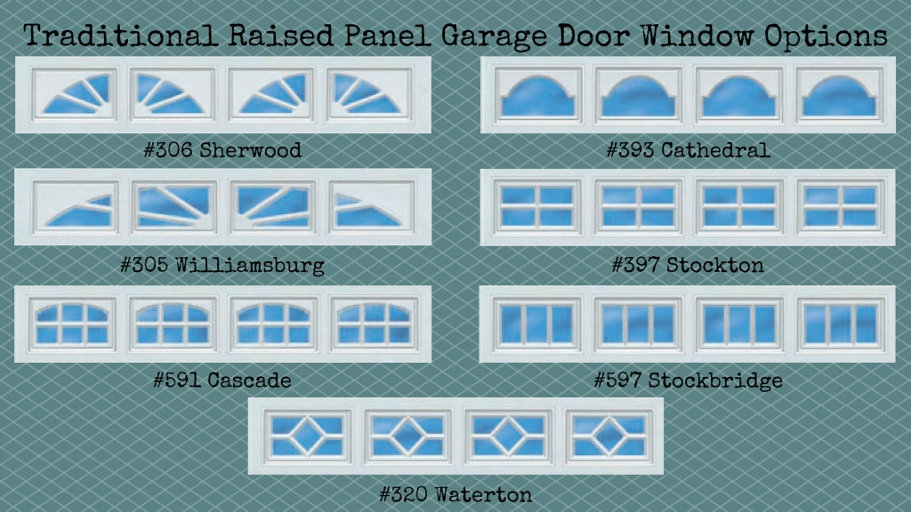 traditional-raised-panel-garage-door-window-options