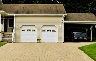 Carport juxtaposed to Garage