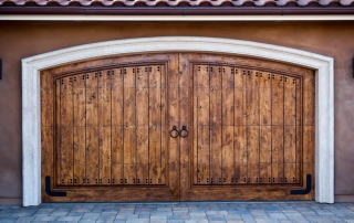 Carriage Style Garage Door made out of wood
