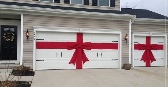 Garage Door Decoration with Ribbons
