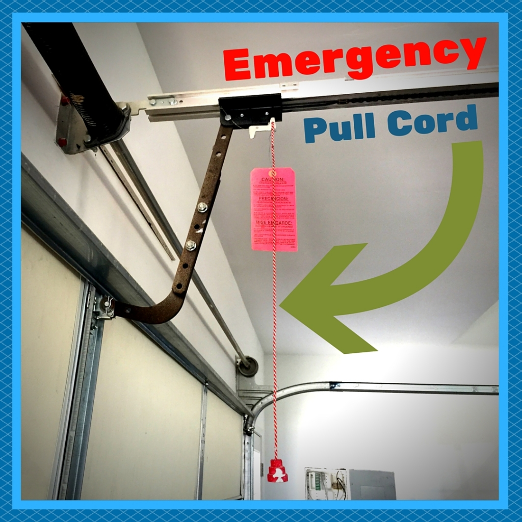garage door emergency pull cord