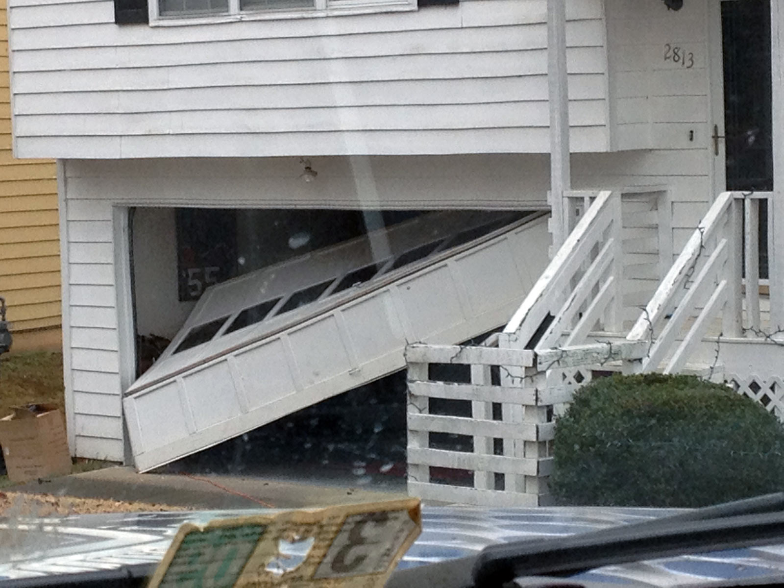 Garage Door Collapse