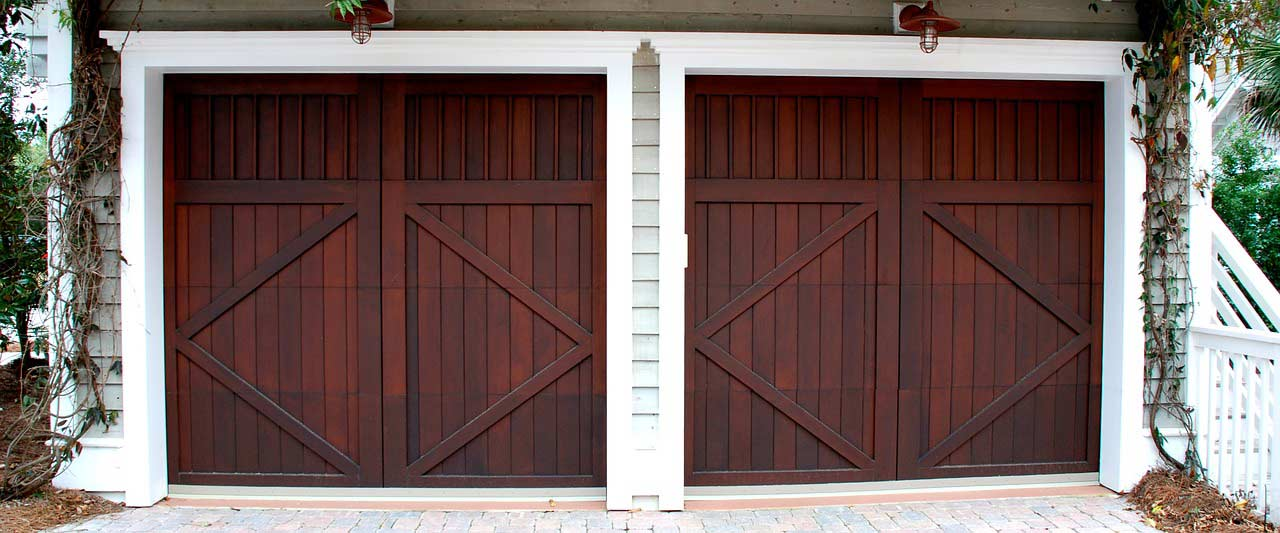 side by side garage doors